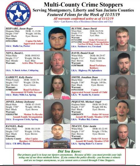 Featured Felons - 11/15/19
